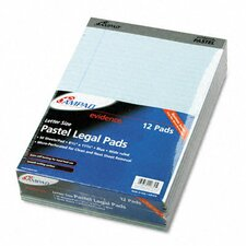 Evidence Pastels Pads, Legal/Wide Rule, Letter, 50-Sheet Pads/Pack, 12/Pack