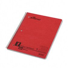 Wirelock Subject Notebook, College/Med Rule, Letter, White, 80 Sheets/pad