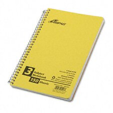 Earthwise By Oxford Small Size Notebook, College/Medium Rule, 6 X 9-1/2, 150 Sheets/Pad
