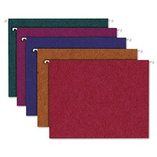 <strong>AMPAD Corporation</strong> Pendaflex Earthwise Envirotec Recycled Colored Hanging File Folders, Letter, 20/Box
