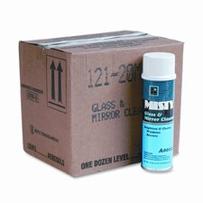 Misty Glass & Mirror Cleaner with Ammonia, 19 Oz. Aerosol Can, 12/Carton