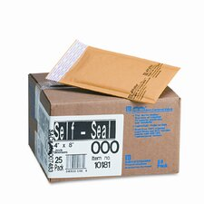 Jiffylite Self-Seal Mailer, Side Seam, #000, Golden Brown, 25/carton