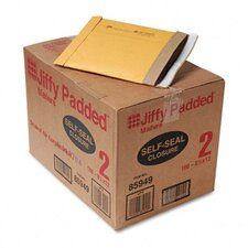 Jiffy Padded Self-Seal Mailer, Side Seam, #2, 100/Carton