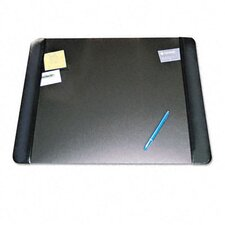Executive Desk Pad with Leather-Like Side Panels, 24 X 19