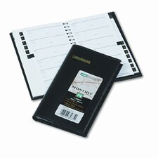 Deluxe Monthly Pocket Planner, Unruled, 3-1/2 x 6-1/8, Black, 2013