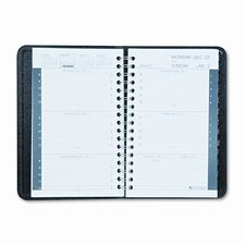 Weekly Appointment Book with Phone/Address Section, 3-3/4 x 6-1/8, Black