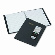 Unruled Monthly Planner, 8 x 10, Black, 2014