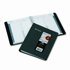 24/7 Daily Appointment Book, 6-7/8 x 8-3/4, Black, 2014