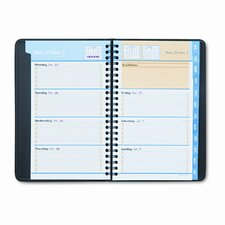 QuickNotes Weekly/Monthly Appointment Book, 4-7/8 x 8, Black, 2014