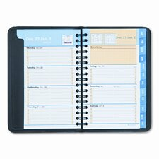 QuickNotes Weekly/Monthly Appointment Book, 3-3/4 x 6, Black, 2014