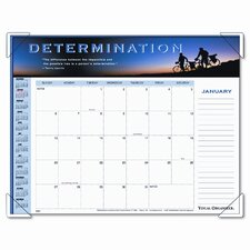 Panoramic Motivational Monthly Desk Pad Calendar, 22 x 17