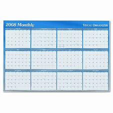 Reversible/Erasable Monthly/Quarterly Format Dated Yearly Wall Planner, 32 x 48, 2013