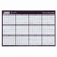 Write-On/Wipe-Off Horizontal Format Reversible Yearly Wall Planner, 48 x 32, 2013