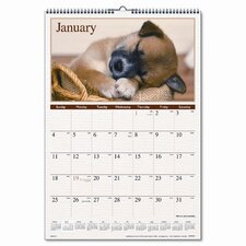 Puppies Full-Color Photographic Monthly Wall Calendar, 15-1/2 x 22-3/4, 2013