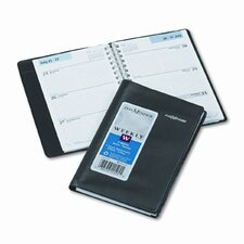 Weekly Appointment Book, Hourly Appointments, Refillable, 3-3/4 x 6, Black, 2014