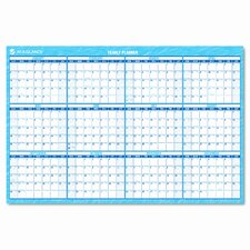 Reversible/Erasable Horizontal Format Dated Yearly Wall Planner, 36 x 24, 2014