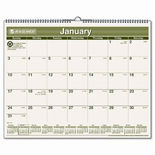 Recycled Monthly Wall Calendar, 12 Month (Jan-Dec), 15 x 12, 2013