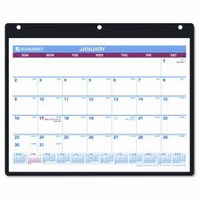 Monthly Desk Pad/Wall/Ring Binder Calendar, 3-Hole Punched, 11 x 8-1/4, 2013