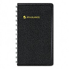 Weekly Planner, Shirt Pocket Size, 2-1/2 x 4-1/2, Black, 2014