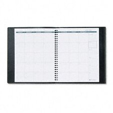<strong>At-A-Glance</strong> Appointment Book Plus Mid-Sized Monthly Planner, 6-7/8 x 8-3/4, Black, 2014
