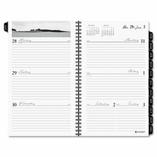 Executive Fashion Weekly/Monthly Planner Refill, 4 5/8 x 8, 2014