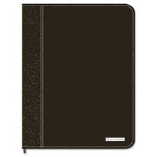 Executive Monthly Planner, Zipper Closure, 6-7/8 x 8-3/4, Black, 2014