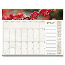 <strong>At-A-Glance</strong> Panoramic Floral Monthly Desk Pad Calendar, 22 x 17, 2013