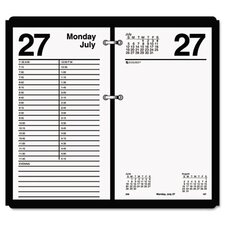 One-Color Daily Desk Calendar Refill, 4-1/2w x 8h, 2013