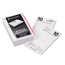 One-Color Daily Desk Calendar Refill with Monthly Tabs, 3-1/2w x 6h, 2013