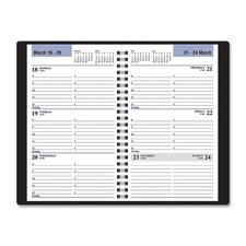 "Weekly Planner, 13-Month, 4-7/8""x8"", Black, 2014"