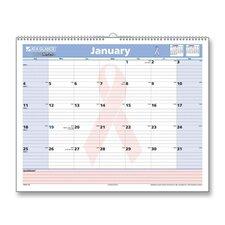 QuickNotes Breast Cancer Awareness Wall Calendar, 15 x 12, 2012