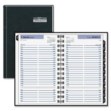 Premiére Desk Daily Appointment Book, 4-7/8 x 8, Black, 2013