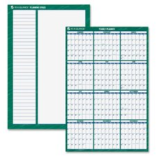 Reversible/Erasable Vertical Format Dated Yearly Wall Planner, 32 x 48, 2013