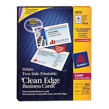 Two-Side Clean Edge Laser Business Cards, 1000/Box