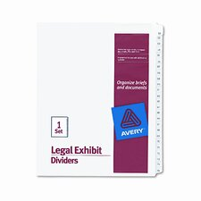 Allstate-Style Legal Size Tab Dividers, 25-Tab, 51-75 Tab Title (Set of 25)