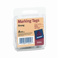 Marking Tags, 1 3/32 X 3/4 (100/Pack)