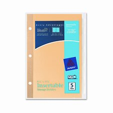 Worksaver Insertable Tab Index Dividers (5 Tabs)