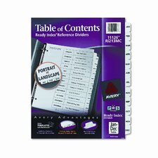 Ready Index Classic Tab Titles, 12-Tab, Jan-Dec, Letter, Black/White, 12 per Set