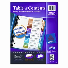 Ready Index Contemporary Table of Contents Divider, Jan-Dec, Letter