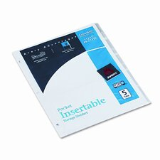 Worksaver Pocket Dividers with Insertable Clear Tabs