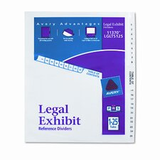 Avery-Style Legal Side Tab Divider (26 Tabs, 1 Set/Box)