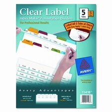 Index Maker Divider (5 Tabs, 5 Sets/Pack)