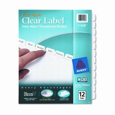 Index Maker Clear Label Dividers (12 Tabs)