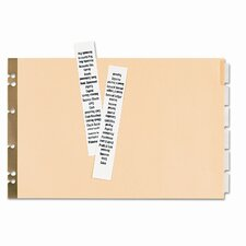 Post Binder Dividers (6 Tabs, 6/Set)