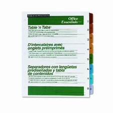 Office Essentials Office Essentials Table 'N Tabs Dividers (8 Tabs, 1 Set/Pack)