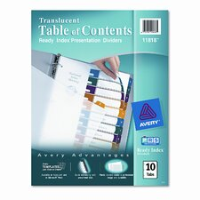 Ready Index Table/Contents Dividers