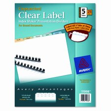 Index Maker Clear Label Contemporary Dividers (5 Tabs, 25 Sets/Pack)
