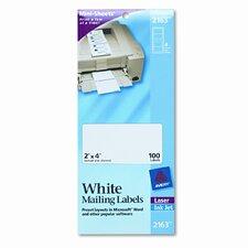 Laser/Inkjet Mailing Labels on Mini-Sheet (100/Pack)