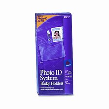 Photo Id Horizontal Badge Holder, 50/Box