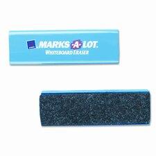 Marks-A-Lot Dry Erase Board Eraser, Felt, 5 1/2w x 1 7/8d x 1 1/4h